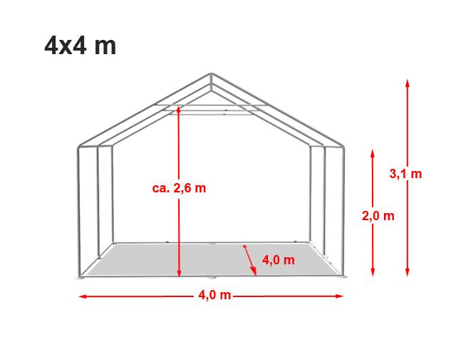 Párty stan Prémium 4x4m
